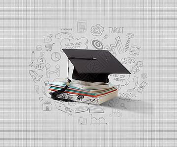 学士帽毕业证图片