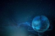 蓝色星空背景图片