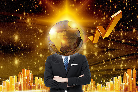 金融创意商务人士背景图片