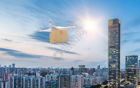 科技之无人机送快递图片
