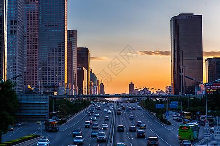 国贸的夕阳图片