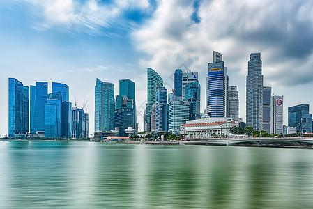 新加坡滨海湾城市高楼风光图片