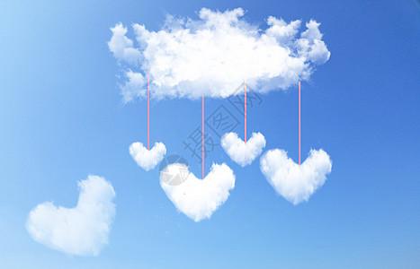 简约爱心云朵图片
