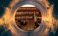漩涡中的图书馆图片