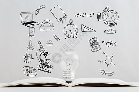 灯泡中的知识图片