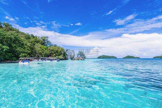 夏天海岛风景旖旎清新图片