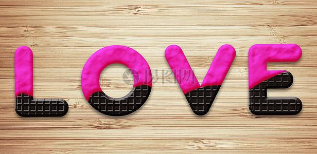 巧克力饼干love图片