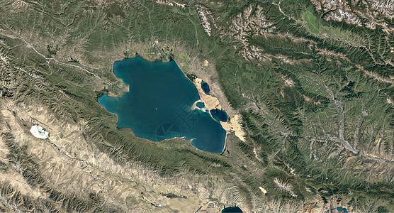 青海湖高清卫星图图片
