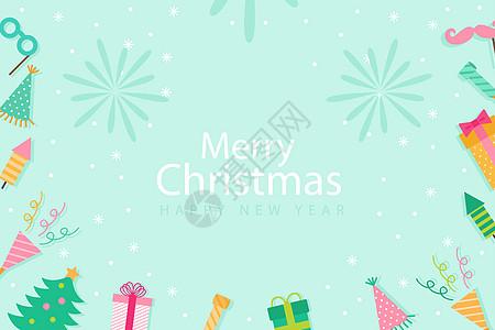 清新圣诞节背景图高清图片