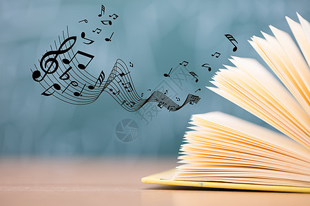 书本发出美妙的音乐声图片