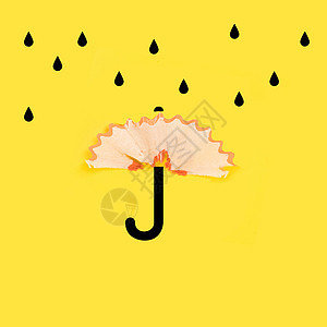 创意铅笔屑雨伞图片