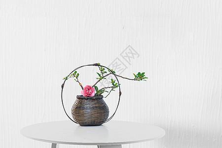 日式简约插花图片