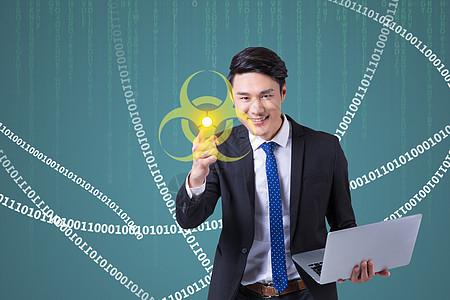 电脑病毒防疫图片