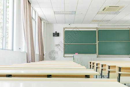 毕业季校园空荡荡的大学教室图片