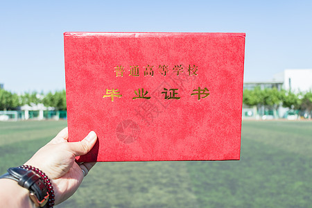 毕业季毕业证书纪念图片