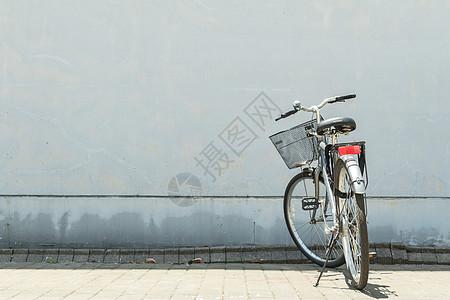 校园里的自行车图片