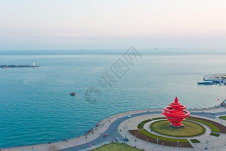 青岛五月的风雕塑图片