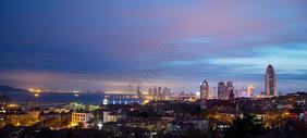 青岛城市建筑夜景图片