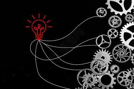 创意团队合作商务背景图片
