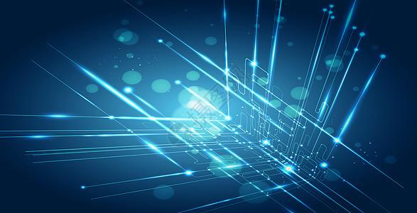 点线蓝色商务科技背景图片