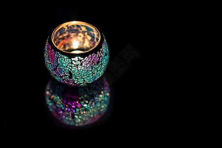 色彩的玻璃蜡烛图片