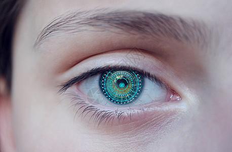 数据眼睛图片