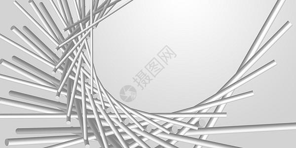 纯色抽象立体几何背景图片