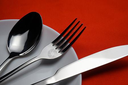 盘中的刀叉图片