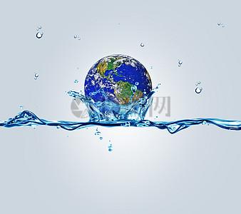 珍惜地球水资源环保素材图片