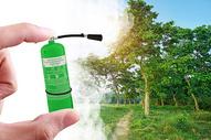 创意绿色背景-环保图片
