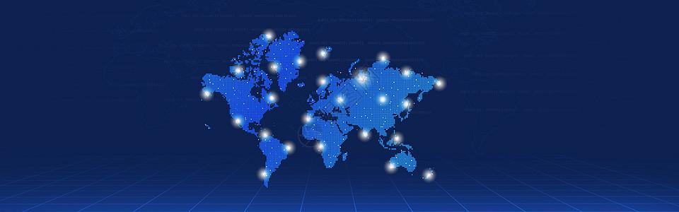 蓝色科技空间感背景图片
