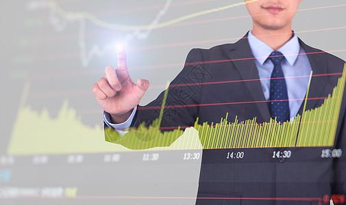 商务人士分析股票走势图素材下载图片