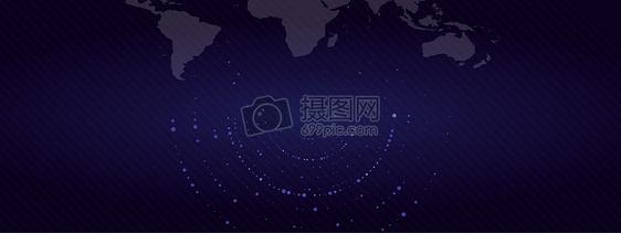 深蓝色科技互联网数据图片