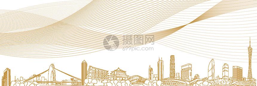 城市商务科技地产广告背景图片