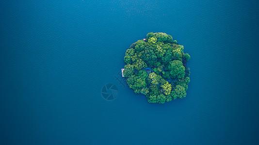 杭州西湖航拍图片