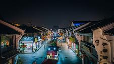 航拍杭州清河坊街图片