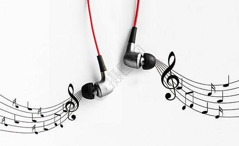 释放音乐的耳机图片