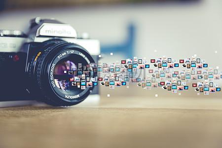 发射信号的相机图片