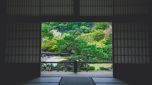 禅意安静的寺院图片