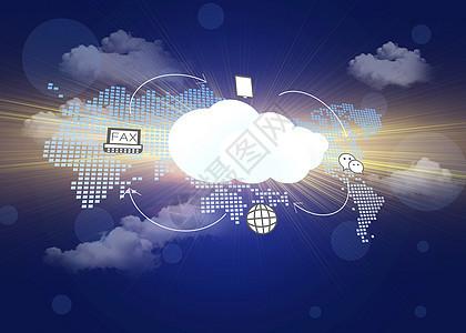 智能科技时代云数据服务图片