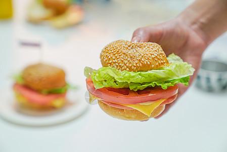 汉堡奶油布丁图片