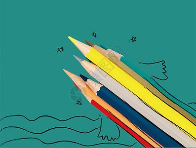 创意铅笔手绘图片