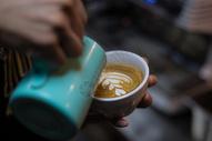 咖啡 拉花图片