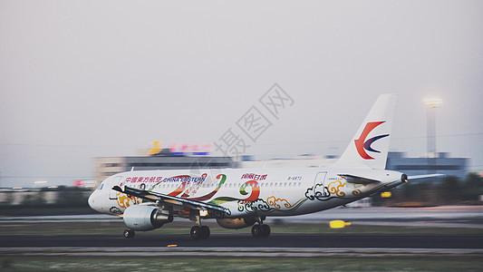 东方航空彩绘涂装飞机图片