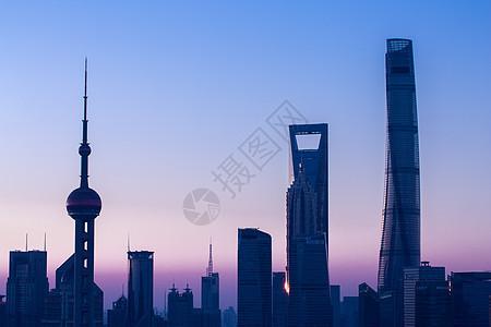 上海城市建筑日出风光日落夕阳东方明珠地标黄浦江图片