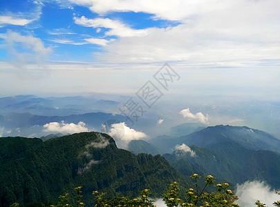 峨眉山山顶背景图图片