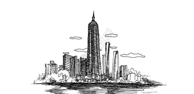 建筑素描图片