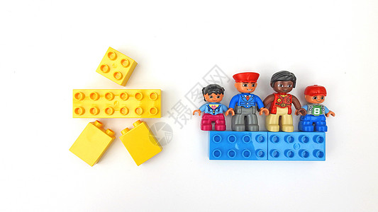 61六一儿童节乐高积木二孩政策创意拼图图片