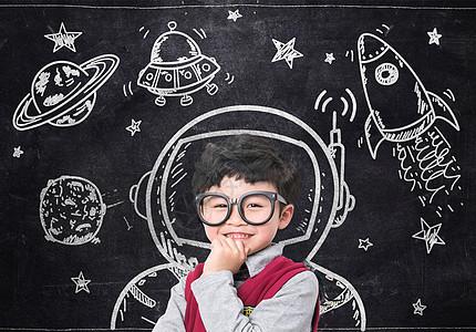 小孩科学教育图片