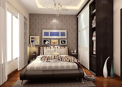 深色卧室效果图图片